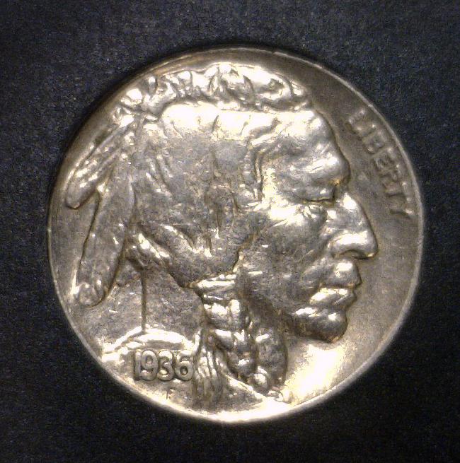 1936 Buffalo Indian Head Nickel Uncirculated UNC