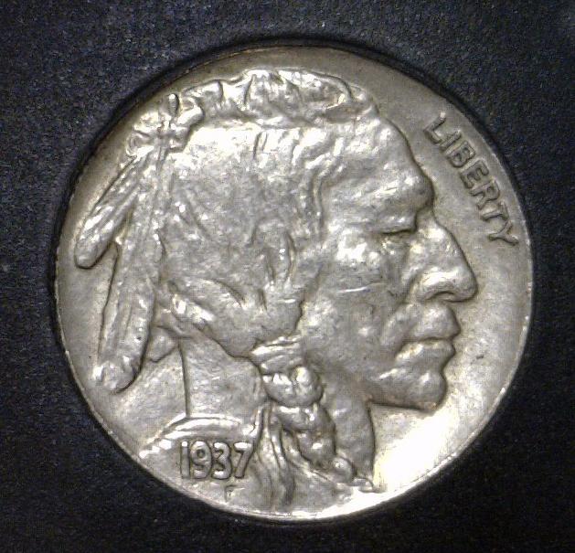 1937 Buffalo Indian Head Nickel Uncirculated UNC