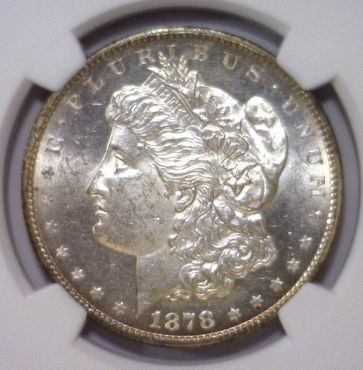1878-CC Morgan Silver Dollar NGC UNC Details ObvWM