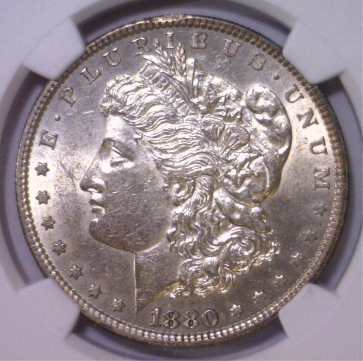 1880 Morgan Silver Dollar Choice AU NGC AU58