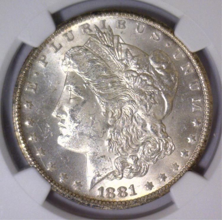 1881-CC Morgan Silver Dollar NGC MS63