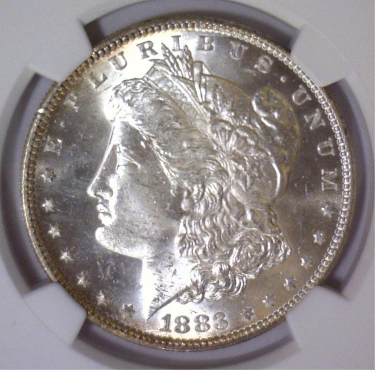 1883 Morgan Silver Dollar NGC MS63