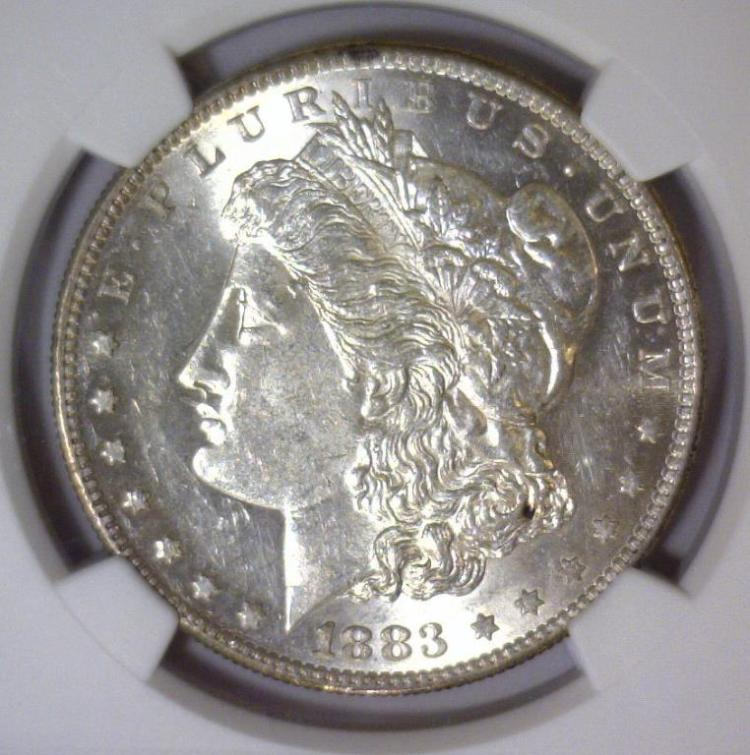 1883-S Morgan Silver Dollar Choice AU NGC AU58
