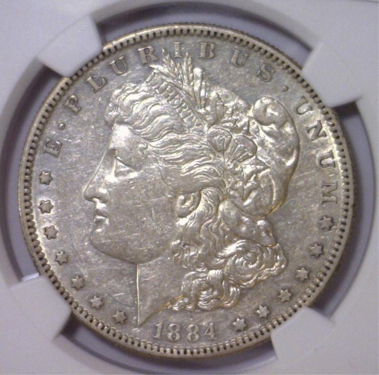 1884-S Morgan Silver Dollar NGC XF45