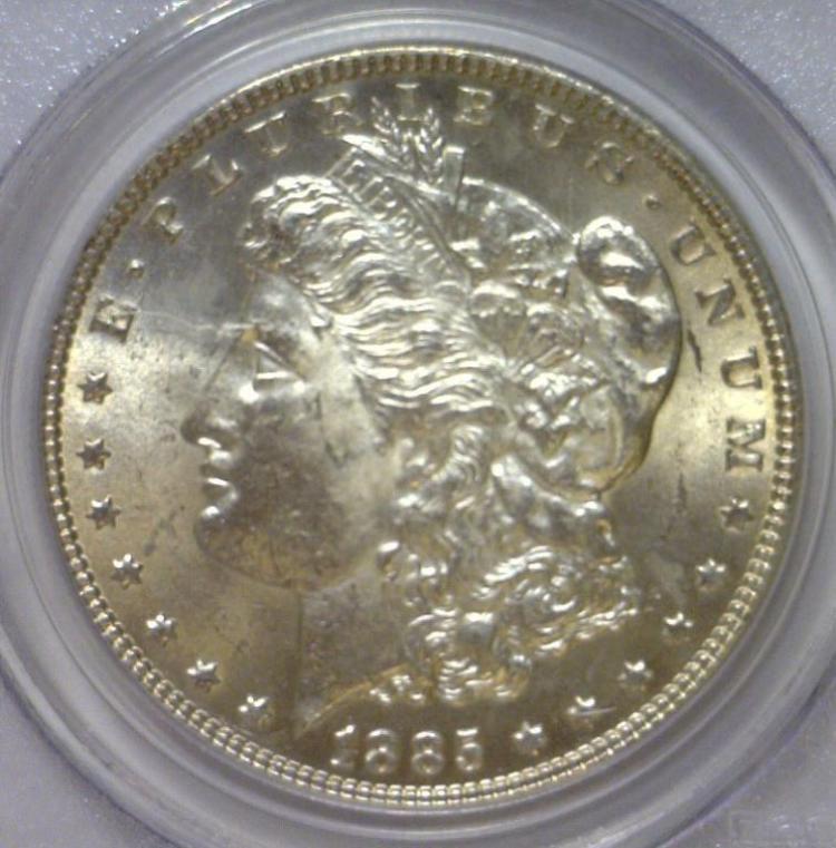 1885 Morgan Silver Dollar PCGS MS63