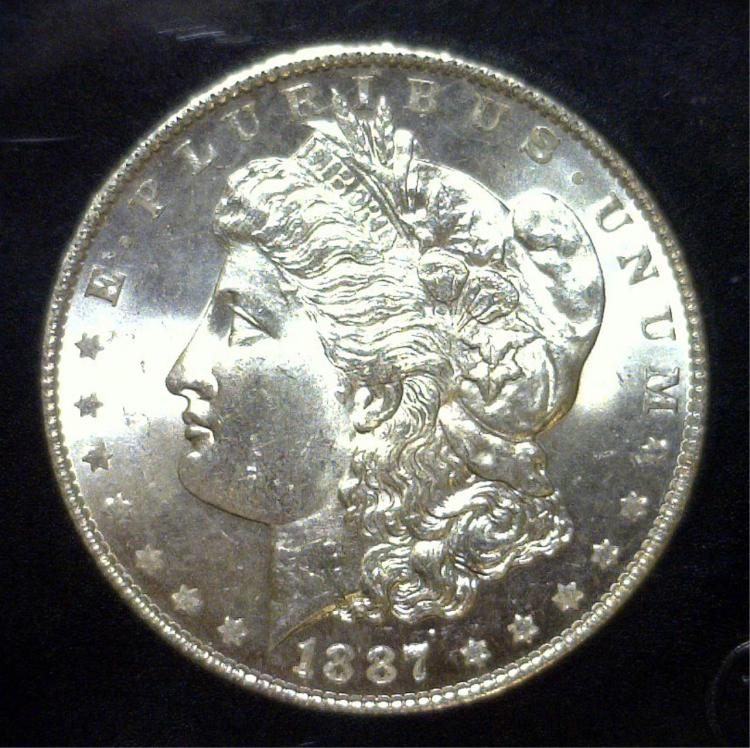 1887 Morgan Silver Dollar Uncirculated UNC