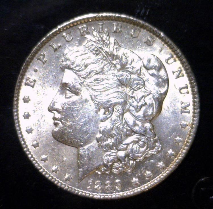 1889 Morgan Silver Dollar Uncirculated UNC
