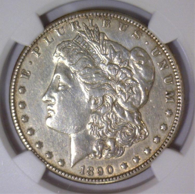1890-CC Morgan Silver Dollar NGC AU Details I/C