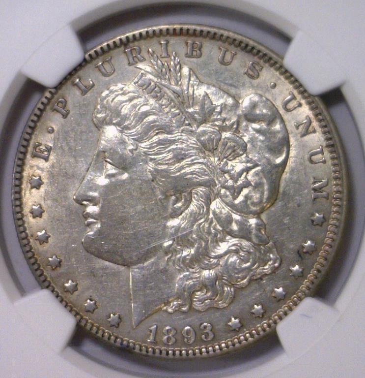 1893-O Morgan Silver Dollar NGC XF Details I/C