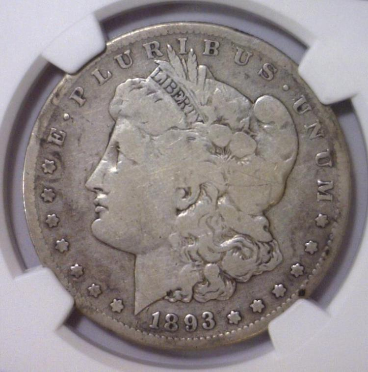 1893-S Morgan Silver Dollar NGC G Good Detail I/C