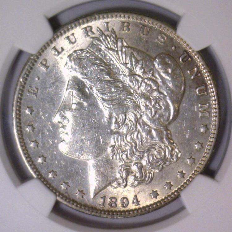 1894 Morgan Silver Dollar NGC AU Details I/C