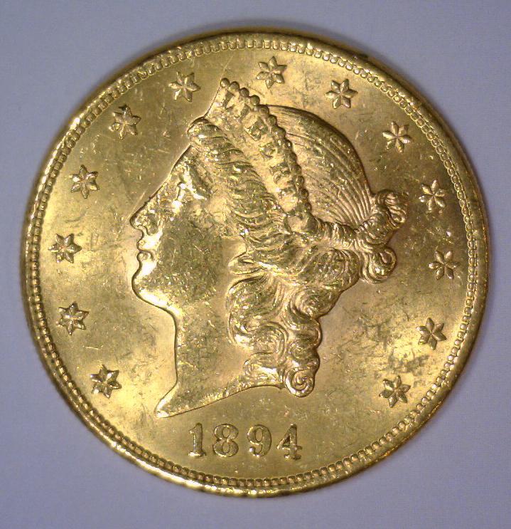 1894 $20 Liberty Head Gold Double Eagle BU UNC