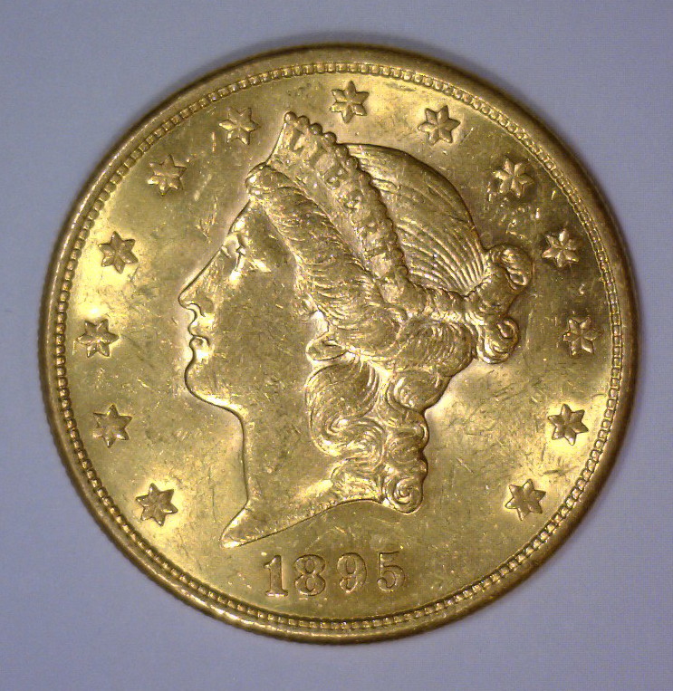 1895-S $20 Liberty Head Gold Double Eagle BU UNC