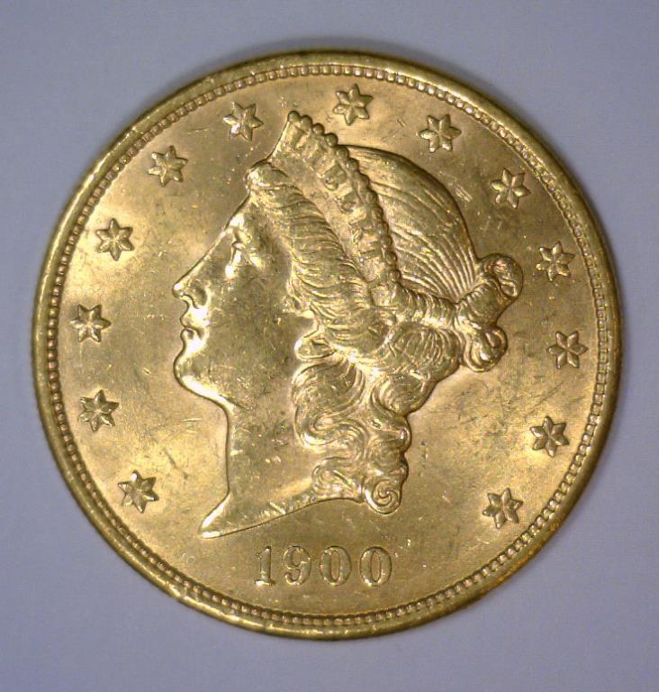 1900 $20 Liberty Head Gold Double Eagle BU UNC