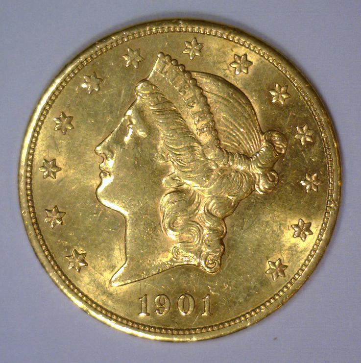1901-S $20 Liberty Head Gold Double Eagle BU UNC