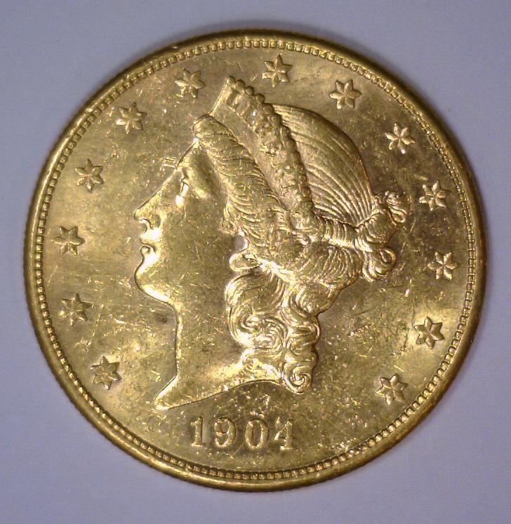 1904-S $20 Liberty Head Gold Double Eagle BU UNC