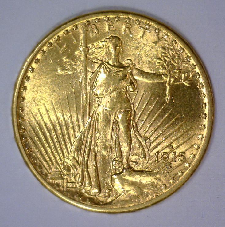 1915-S $20 St. Gaudens Gold Double Eagle BU UNC
