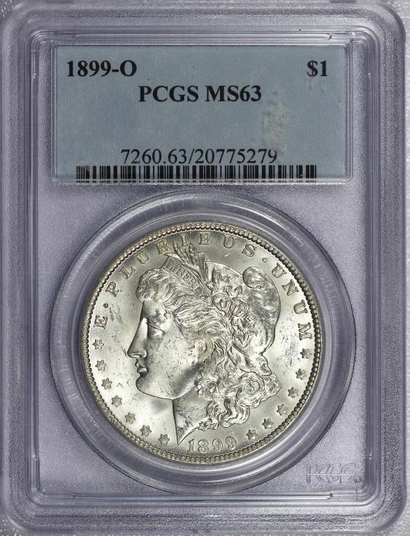 1899-O Morgan Silver Dollar PCGS MS63