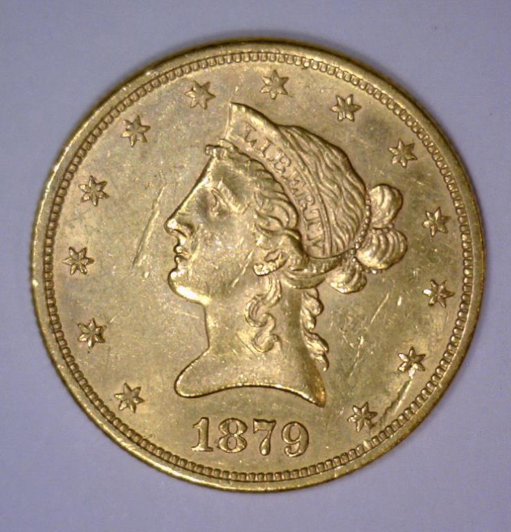 1879-S $10 Liberty Head Gold Eagle Extra Fine XF