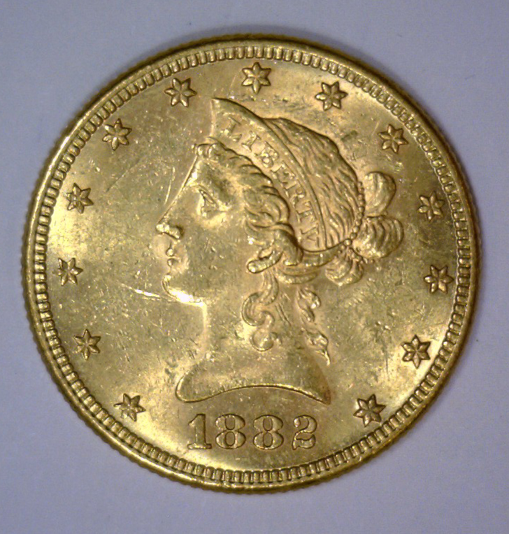1882 $10 Liberty Head Gold Eagle BU UNC