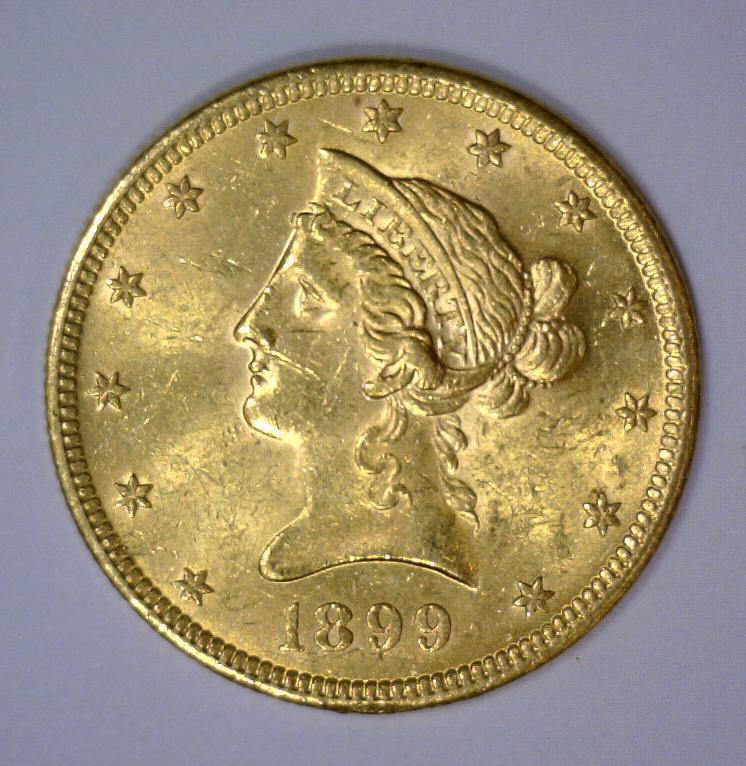 1899 $10 Liberty Head Gold Eagle BU UNC