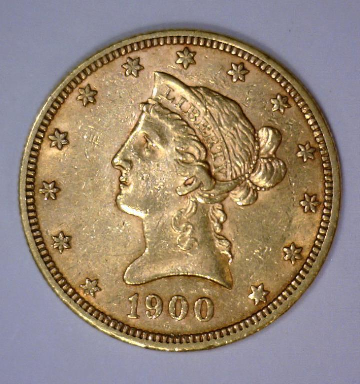 1900 $10 Liberty Head Gold Eagle Extra Fine XF