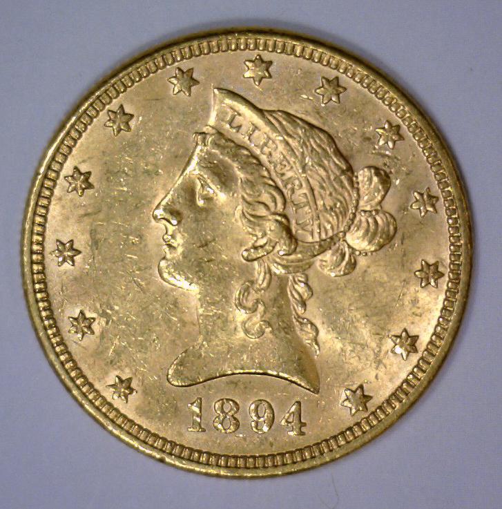 1894 $10 Liberty Head Gold Eagle AU