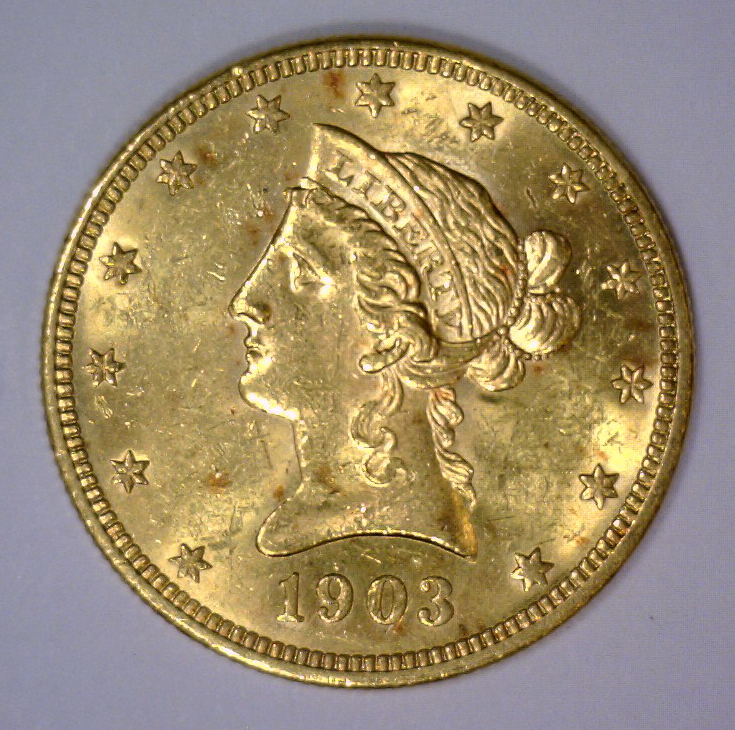 1903 $10 Liberty Head Gold Eagle BU UNC