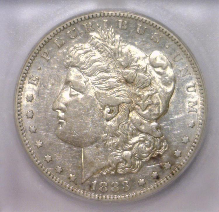 1883-S Morgan Silver Dollar ICG XF EF45