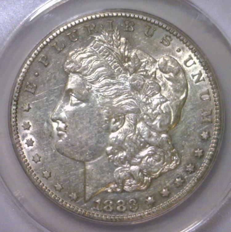 1883-S Morgan Silver Dollar ANACS AU50