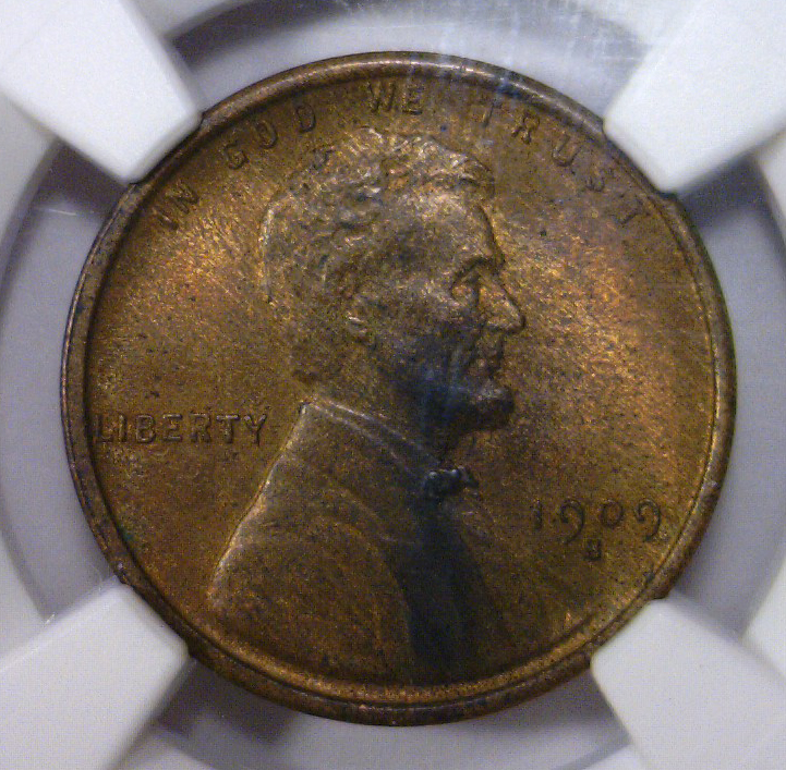1909-S Lincoln Wheat Cent NGC MS62 BN