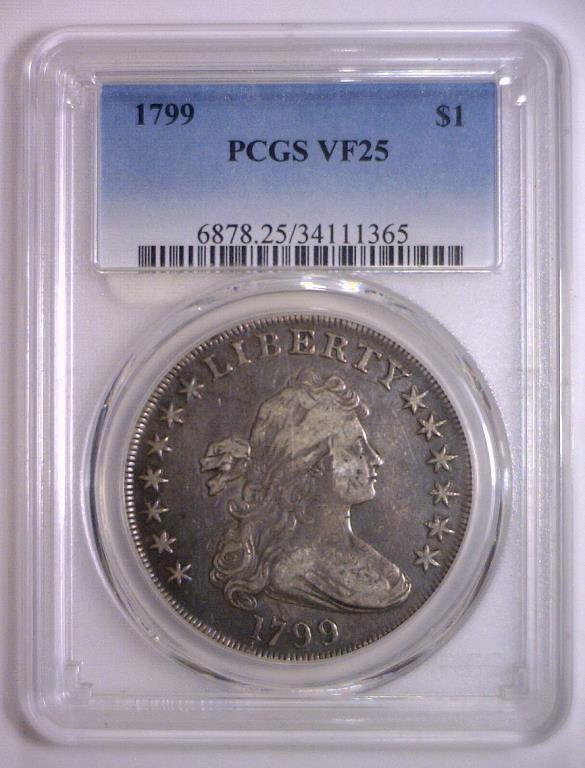 1799 Draped Bust Silver Dollar PCGS Very Fine VF25