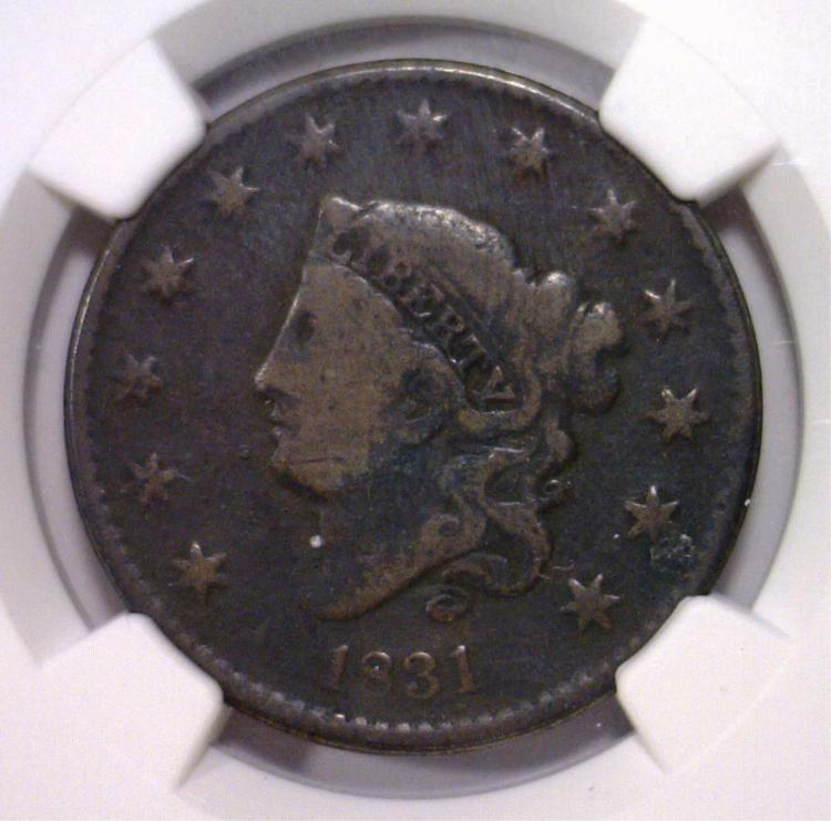 1831 Liberty Head Large Cent NGC Good details