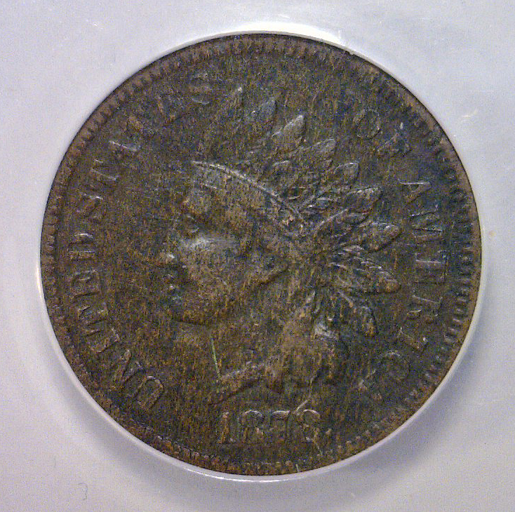 1878 Indian Head Cent ANACS VF30 details corroded