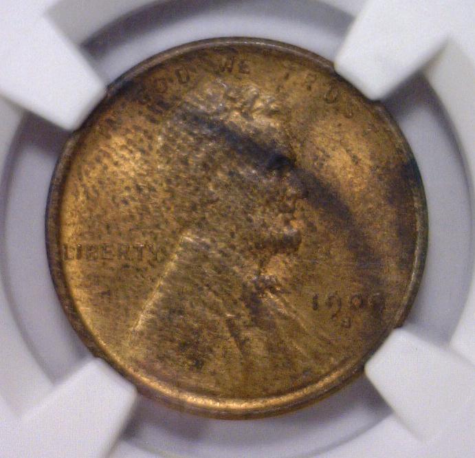 1909-S Lincoln Cent Penny NGC UNC details E/D