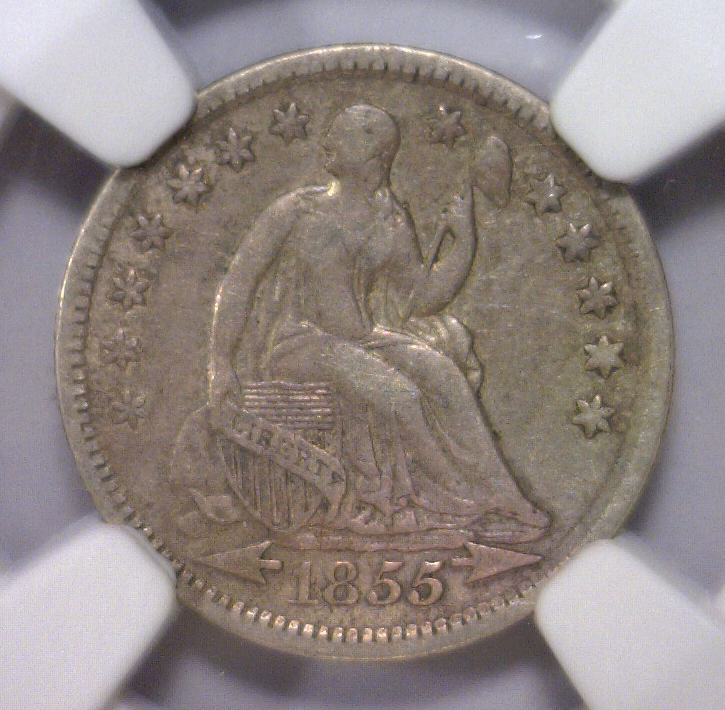 1855 Seated Liberty Silver Half Dime NGC VF30