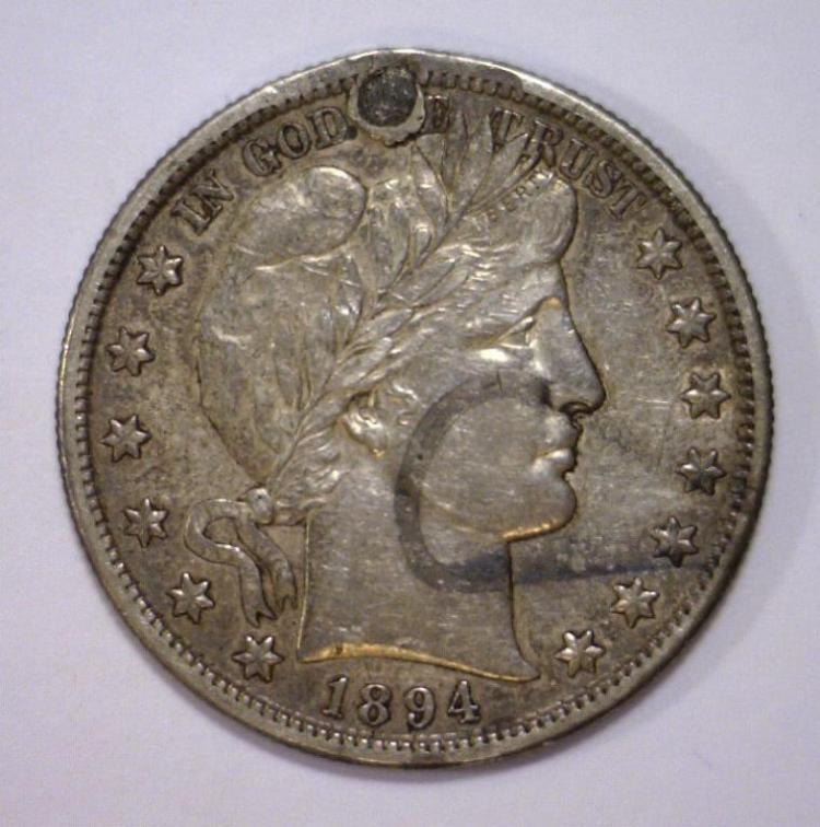 1894-S Barber Silver Half AU/UNC details