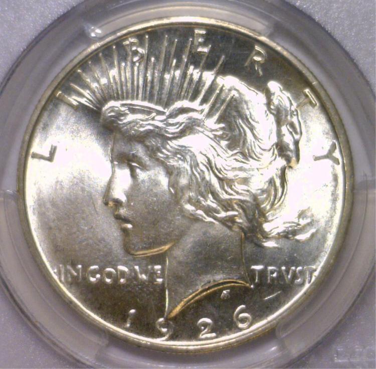 1926-D Peace Silver Dollar PCGS MS65