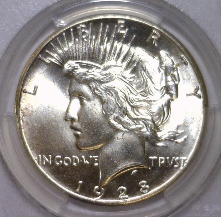 1928 Peace Silver Dollar Key Date PCGS MS63