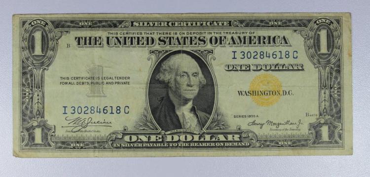 1935-A $1 NORTH AFRICA Silver Certificate Fine