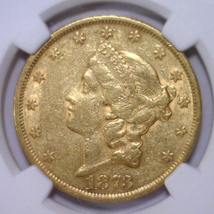 1873 OPEN 3 $20 Liberty Gold Double Eagle NGC XF45
