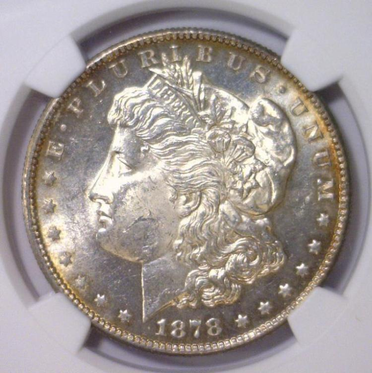 1878-S Morgan Silver Dollar NGC MS62