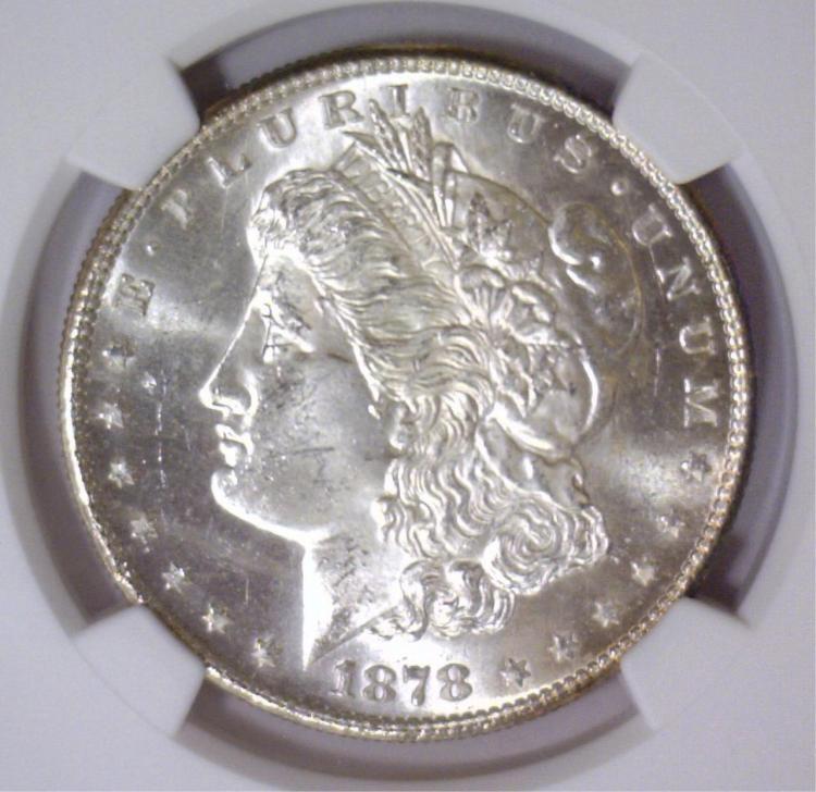 1878-S Morgan Silver Dollar NGC MS63