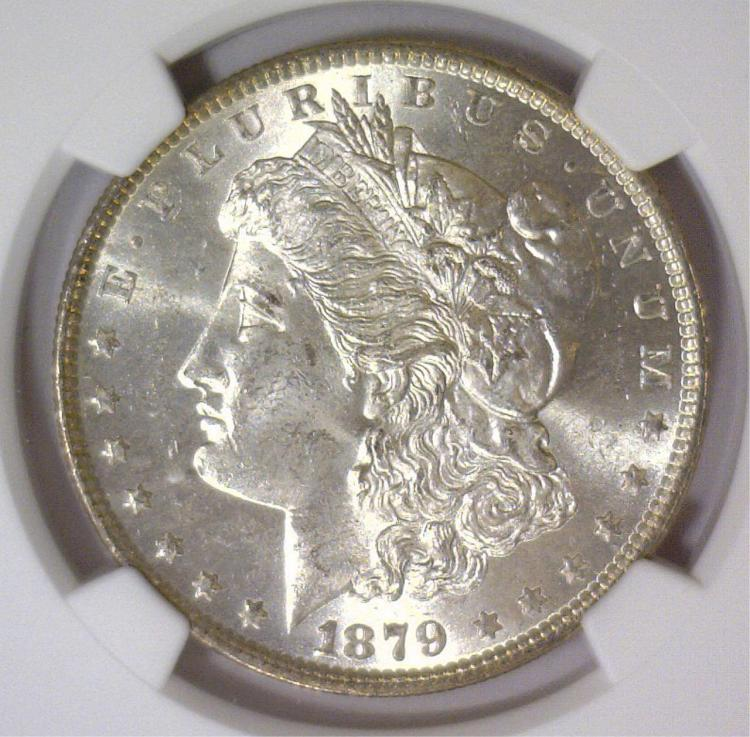 1879 Morgan Silver Dollar NGC MS63