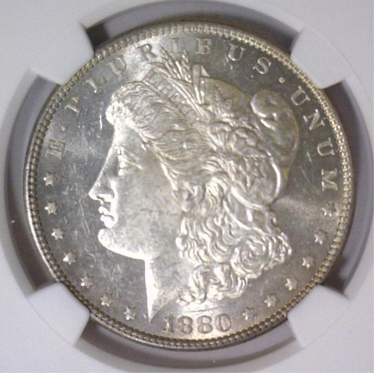 1880 Morgan Silver Dollar NGC MS63