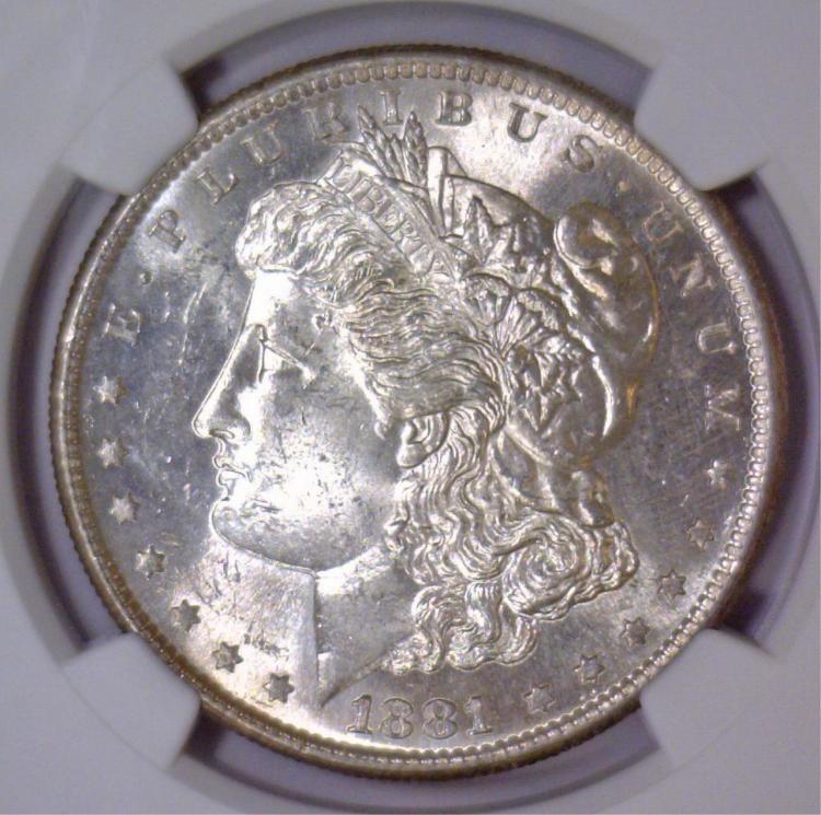 1881-S Morgan Silver Dollar NGC MS62