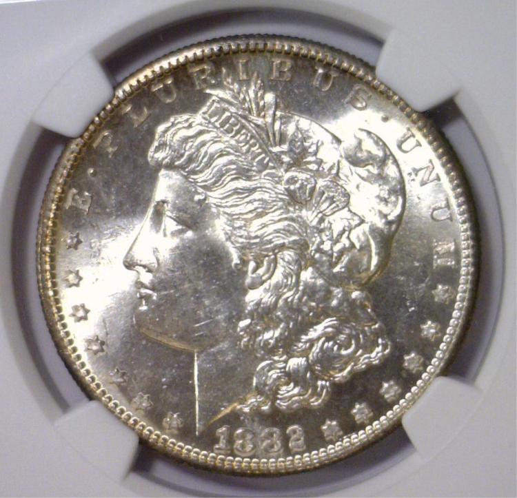 1882-S Morgan Silver Dollar NGC MS62