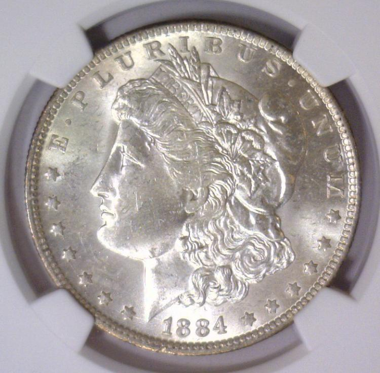 1884-O Morgan Silver Dollar NGC MS63