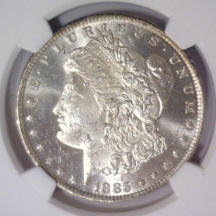 1885-O Morgan Silver Dollar NGC MS63
