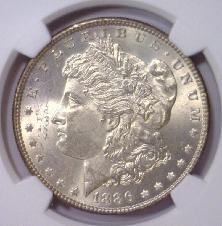 1886 Morgan Silver Dollar NGC MS63